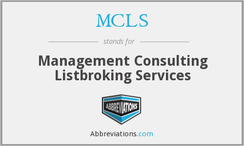 MCLS - Management Consulting Listbroking Services