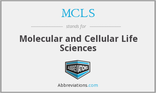 MCLS - Molecular and Cellular Life Sciences