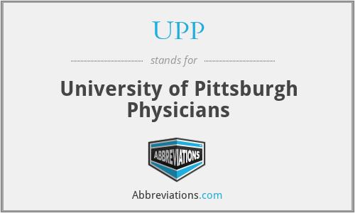 UPP - University of Pittsburgh Physicians