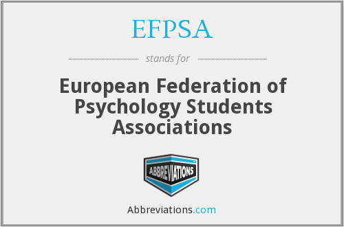 What does EFPSA stand for?
