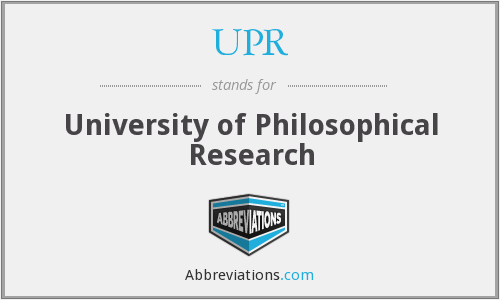 UPR - University of Philosophical Research