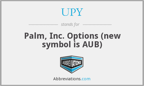 UPY - Palm, Inc. Options (new symbol is AUB)