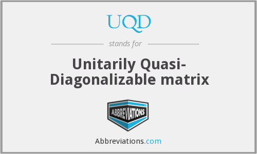What does UQD stand for?