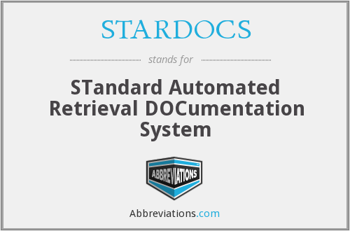 What does STARDOCS stand for?