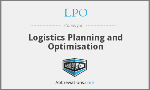 LPO - Logistics Planning and Optimisation