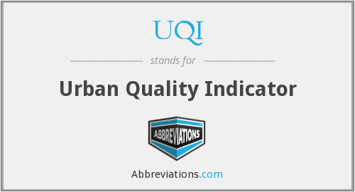 UQI - Urban Quality Indicator