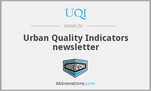 UQI - Urban Quality Indicators newsletter