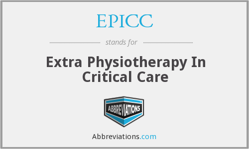 EPICC - Extra Physiotherapy In Critical Care