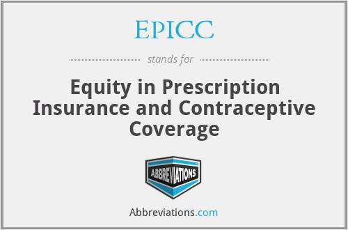 EPICC - Equity in Prescription Insurance and Contraceptive Coverage
