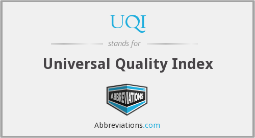 UQI - Universal Quality Index