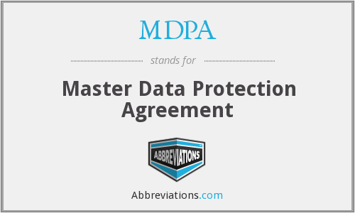 MDPA - Master Data Protection Agreement