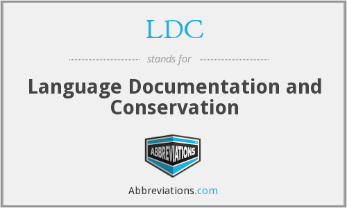 LDC - Language Documentation and Conservation