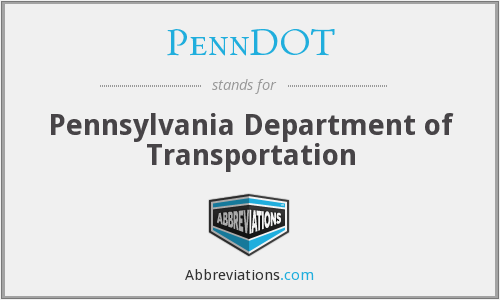 What does PENNDOT stand for?