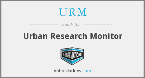 URM - Urban Research Monitor