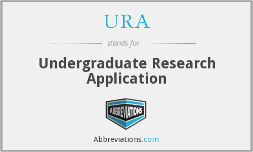 URA - Undergraduate Research Application