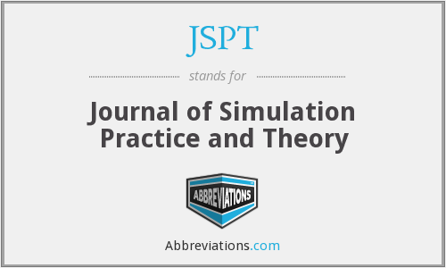 JSPT - Journal of Simulation Practice and Theory