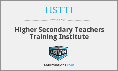 What does HSTTI stand for?