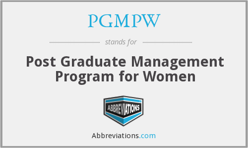 What does PGMPW stand for?