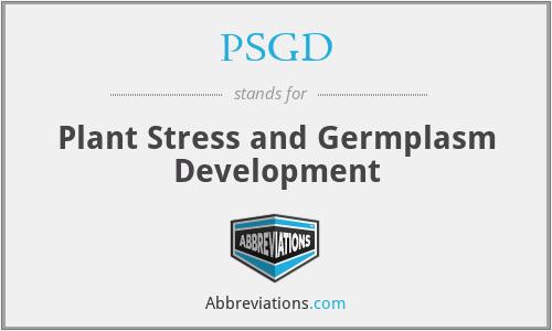 PSGD - Plant Stress and Germplasm Development