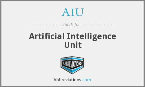 What does AIU stand for? — Page #2