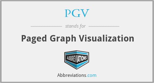 PGV - Paged Graph Visualization