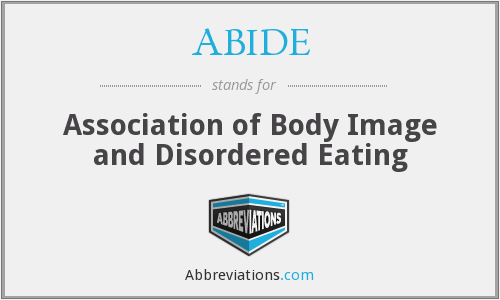 ABIDE - Association of Body Image and Disordered Eating