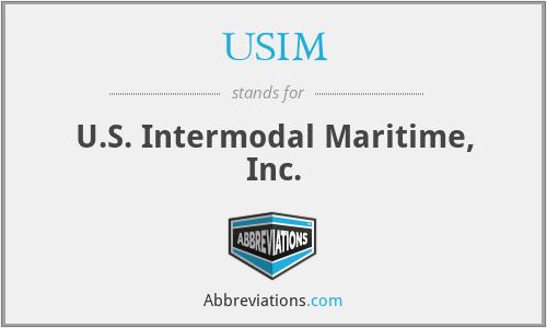 USIM - U.S. Intermodal Maritime, Inc.