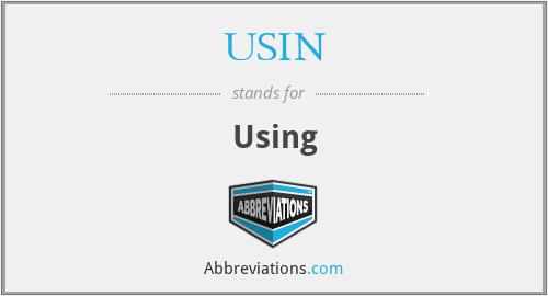 USIN - Using