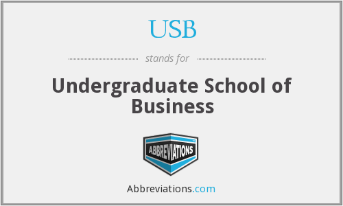 USB - Undergraduate School of Business