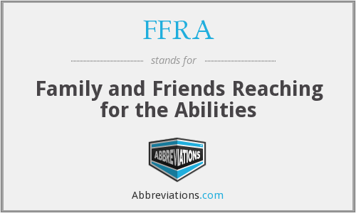 FFRA - Family and Friends Reaching for the Abilities