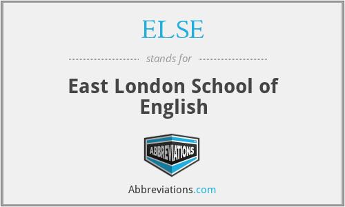 ELSE - East London School of English