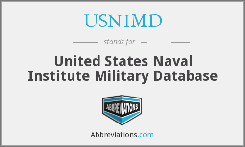 USNIMD - United States Naval Institute Military Database