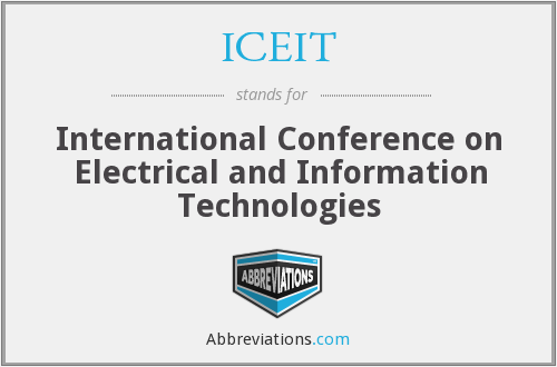 What does ICEIT stand for?