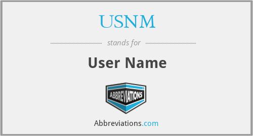 USNM - User Name