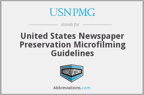 What does USNPMG stand for?
