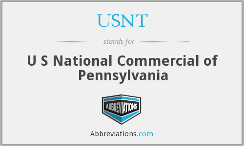 USNT - U S National Commercial of Pennsylvania