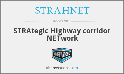 What does STRAHNET stand for?