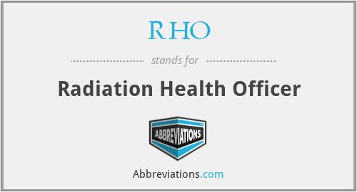 RHO - Radiation Health Officer