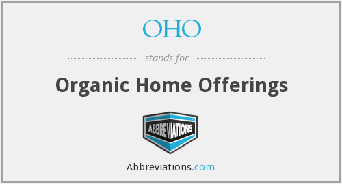 OHO - Organic Home Offerings