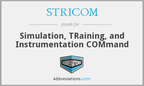 What does STRICOM stand for?