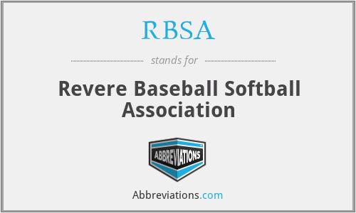 RBSA - Revere Baseball Softball Association