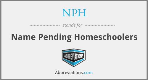 NPH - Name Pending Homeschoolers