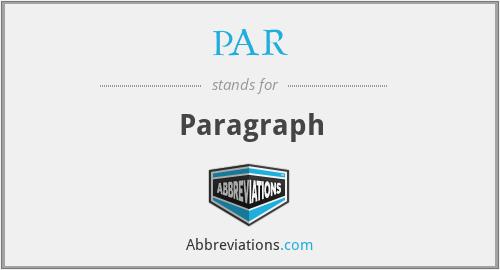 PAR - Paragraph