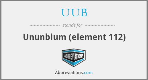 UUB - Ununbium (element 112)