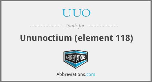 UUO - Ununoctium (element 118)