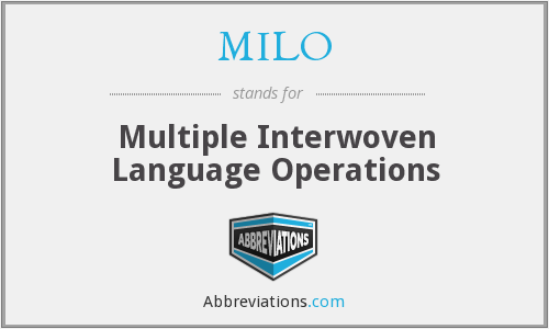 MILO - Multiple Interwoven Language Operations