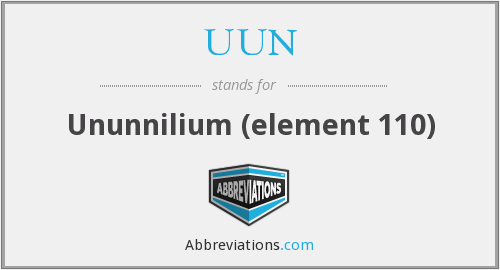 UUN - Ununnilium (element 110)