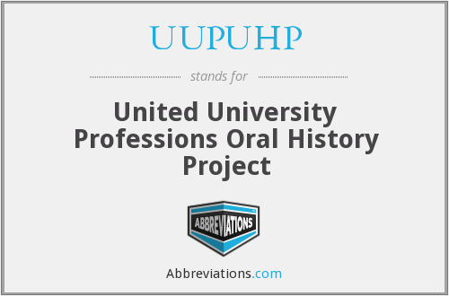 UUPUHP - United University Professions Oral History Project