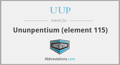 UUP - Ununpentium (element 115)