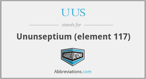 UUS - Ununseptium (element 117)